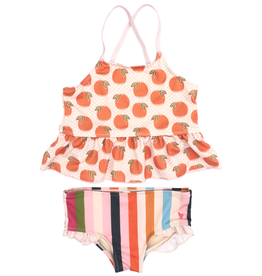 Pink Chicken joy tankini- oranges