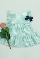 Pink Chicken kit dress- teal gingham