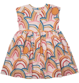 Pink Chicken winnie dress- rainbows