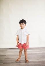 Lali Kids thistle shirt- white chex