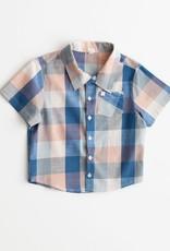 Lali Kids thistle shirt- blue chex