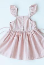 Lali Kids pinafore dress- peach chex