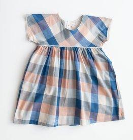 Lali Kids gooseberry dress- blue chex