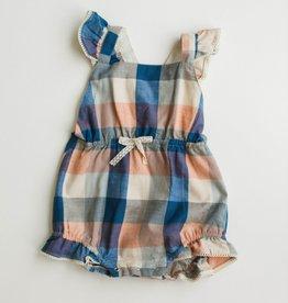 Lali Kids poppy romper- blue chex