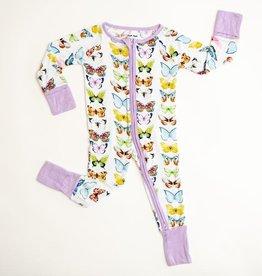 Little Sleepies butterflies zippy