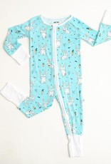 Little Sleepies aqua bunnies zippy