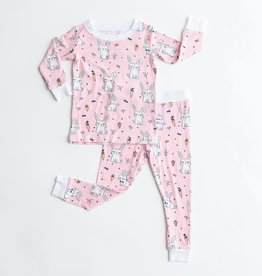 Little Sleepies pink bunnies pajamas