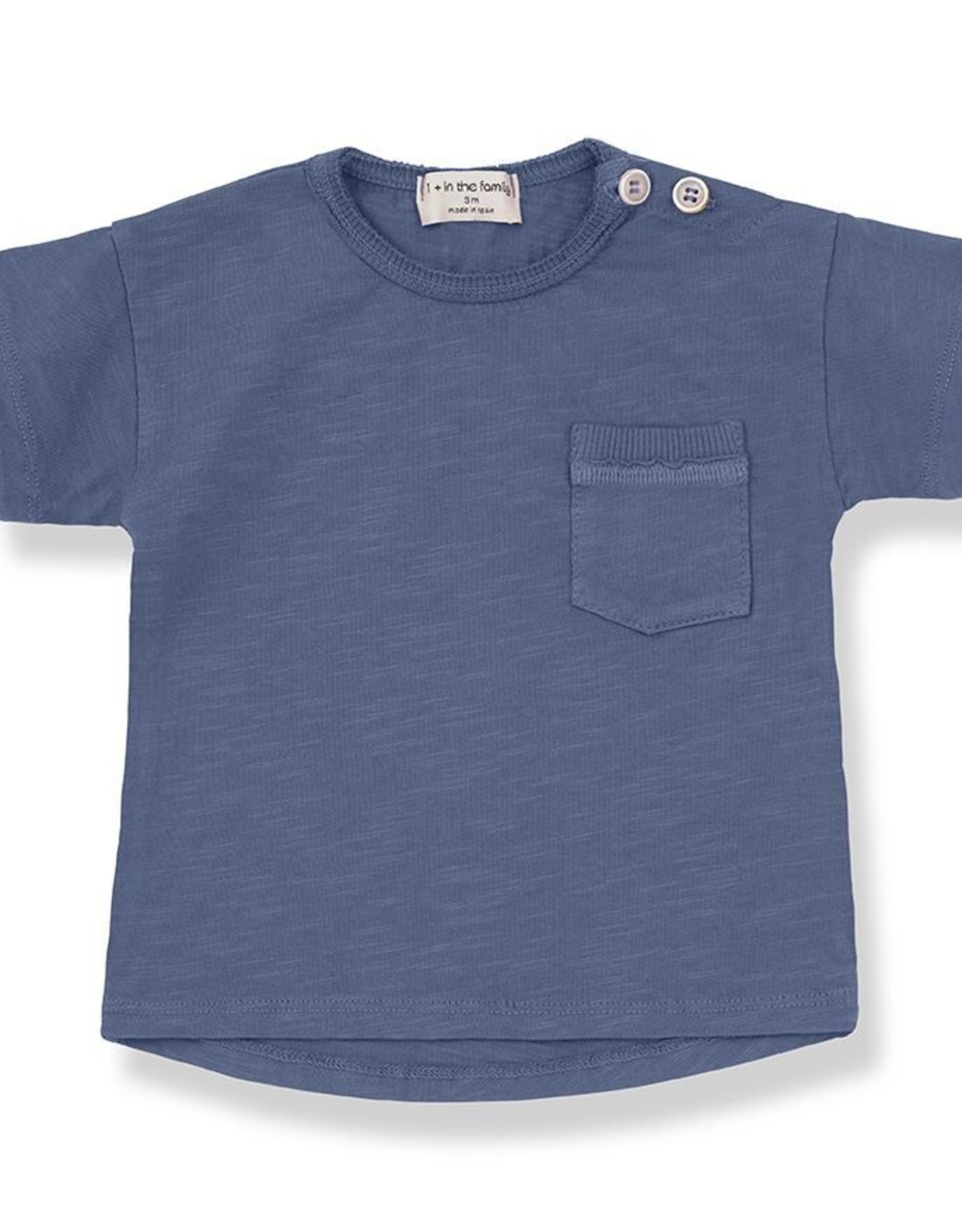 1+ in the Family vico shirt- azzurro
