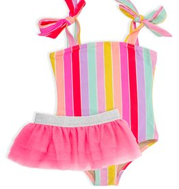 Shade Critters stripe w/ tutu swim