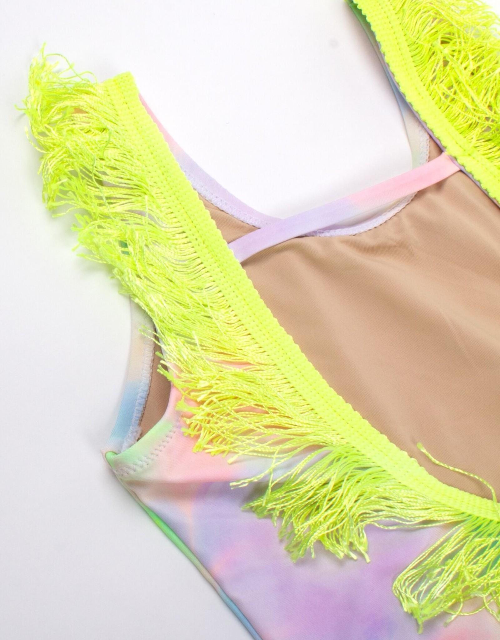 Shade Critters tie dye fringe swim