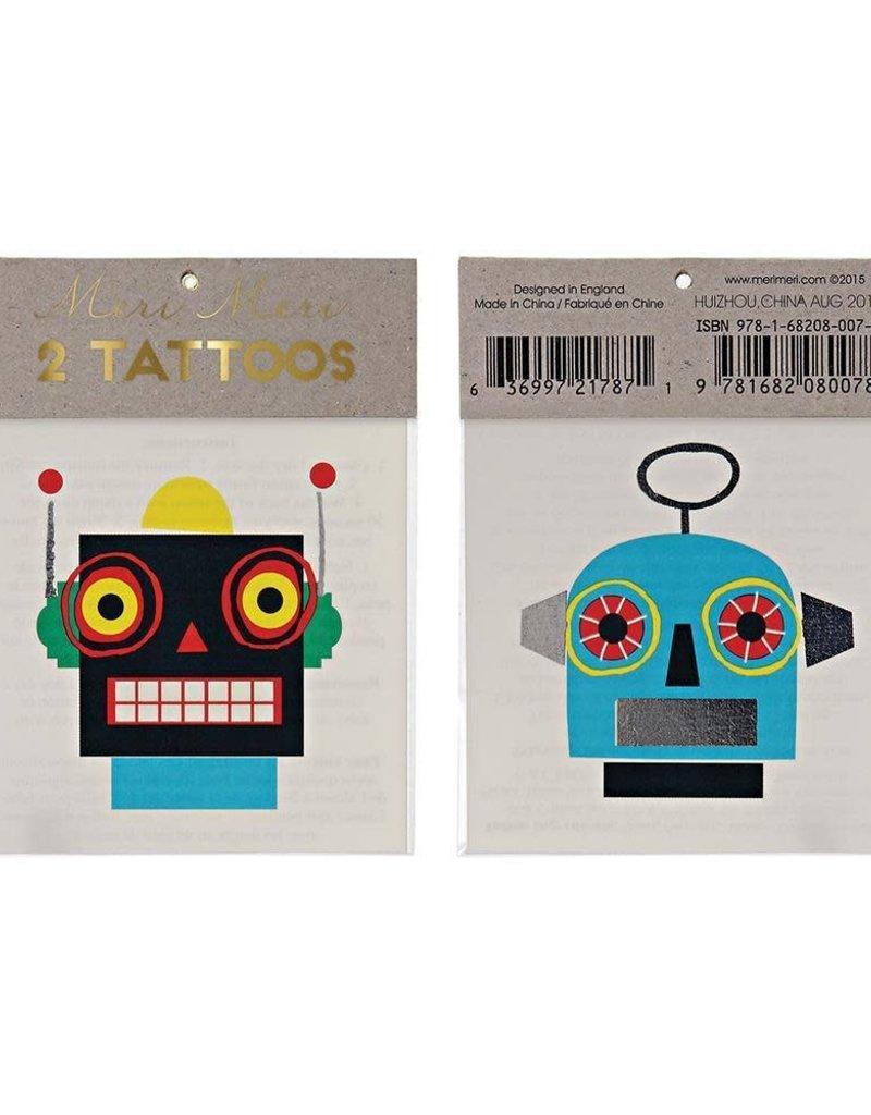 Meri Meri robot tattoos