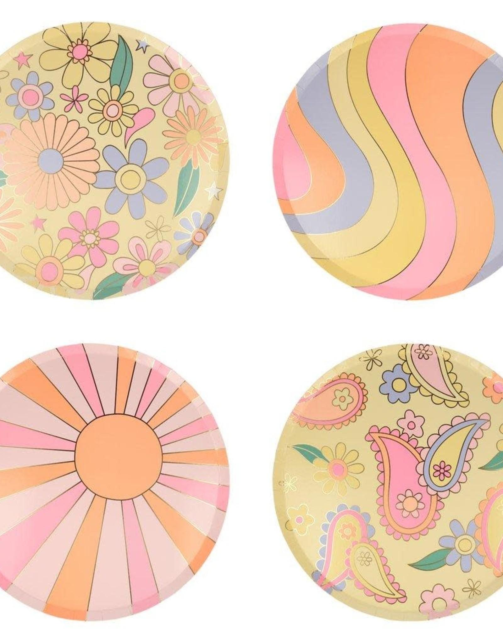 Meri Meri psychedelic 60s plates