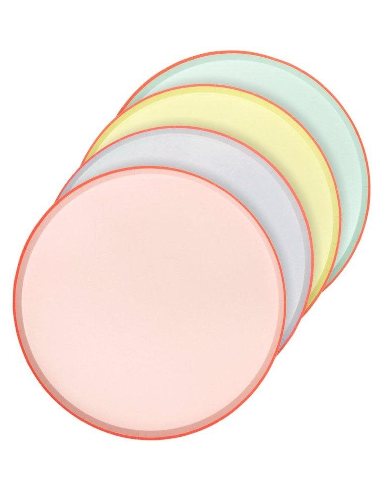 Meri Meri pastel w/ neon plates