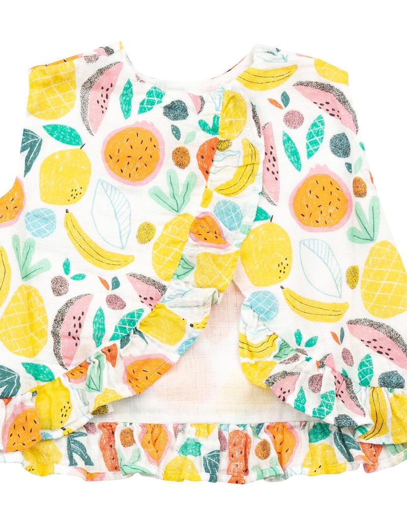 Angel Dear tropical fruit ruffle top set