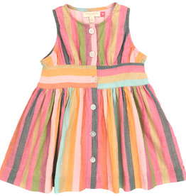 Pink Chicken birdie dress- stripe