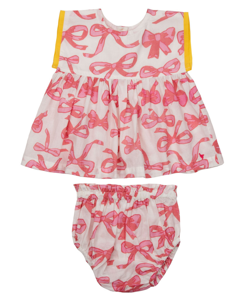 Pink Chicken niley set- bows