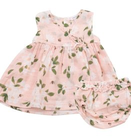 Angel Dear magnolias kimono dress set
