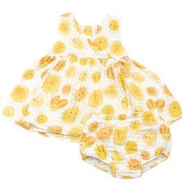 Angel Dear sunshine kimono dress set