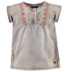 Babyface denim dress- light grey