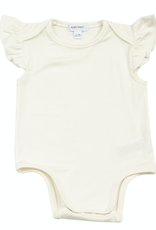 Angel Dear ruffle sleeve onesie- white