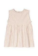 Go Gently Nation prairie dress- hazelnut stripe