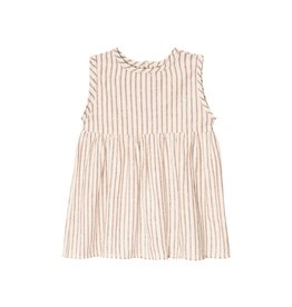 Go Gently Nation prairie dress- hazelnut stripe