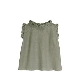 Go Gently Nation ruffle neck tank- thyme