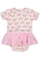 Everbloom skirted onesie- rainbow