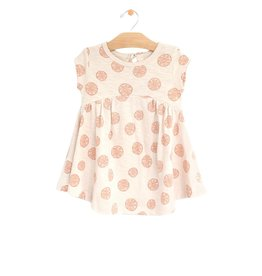 City Mouse gathered dress- grapefruits