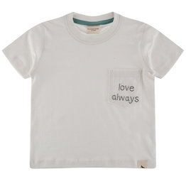 Turtledove London love embroidered tee- white