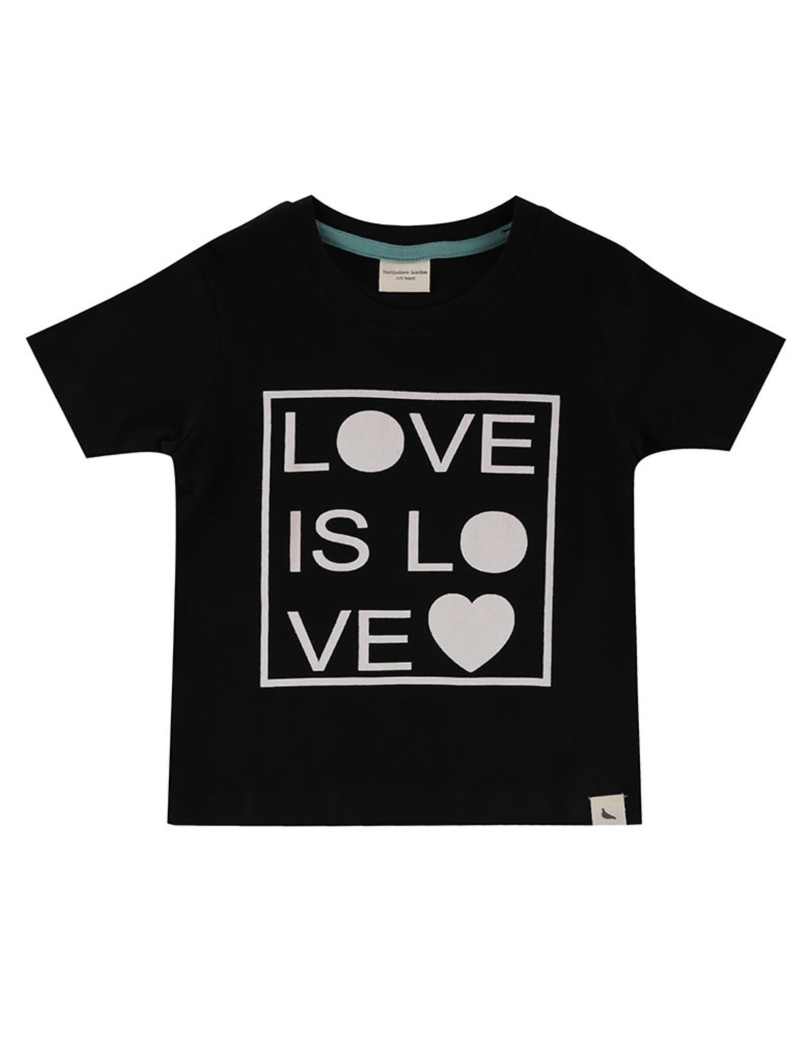 Turtledove London love is love tee- black
