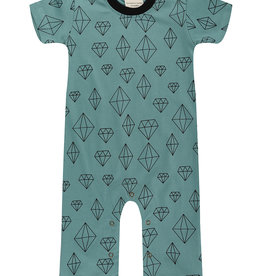 Turtledove London crystals playsuit- eucalyptus