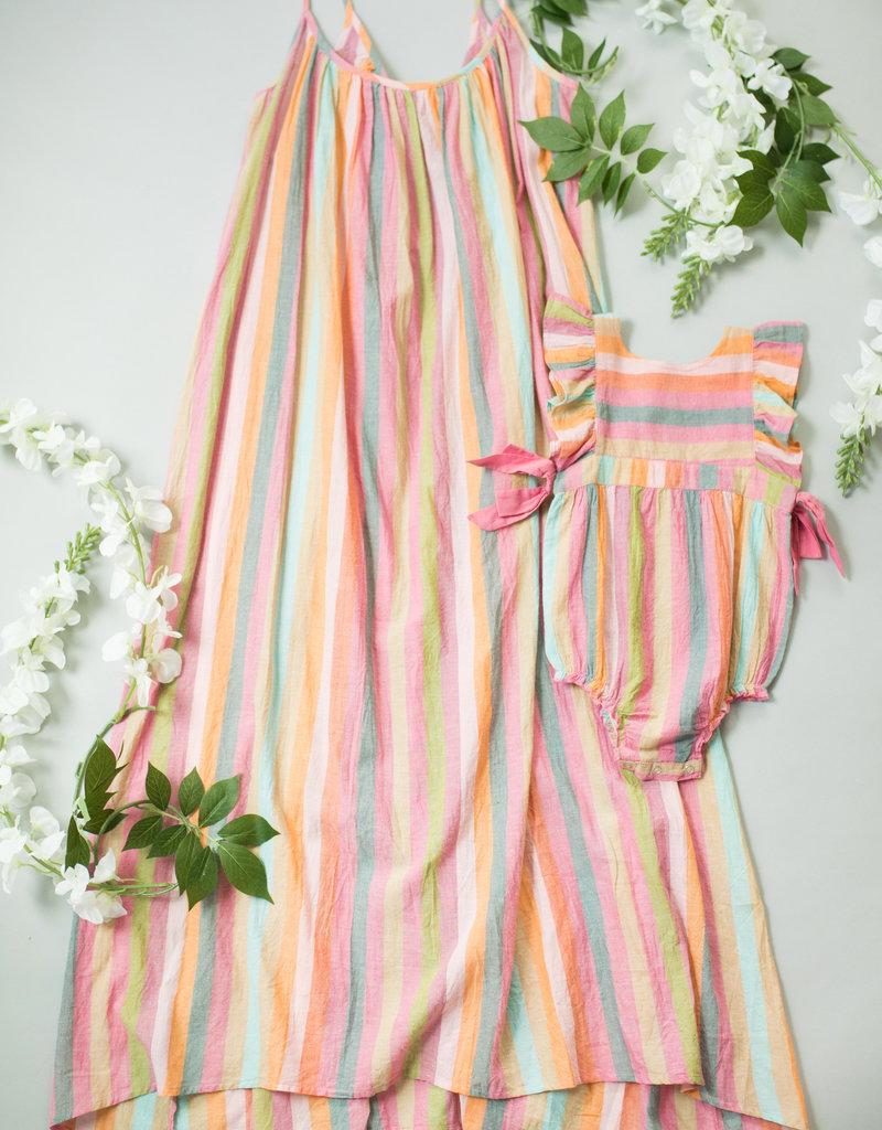 Pink Chicken andie dress- stripe