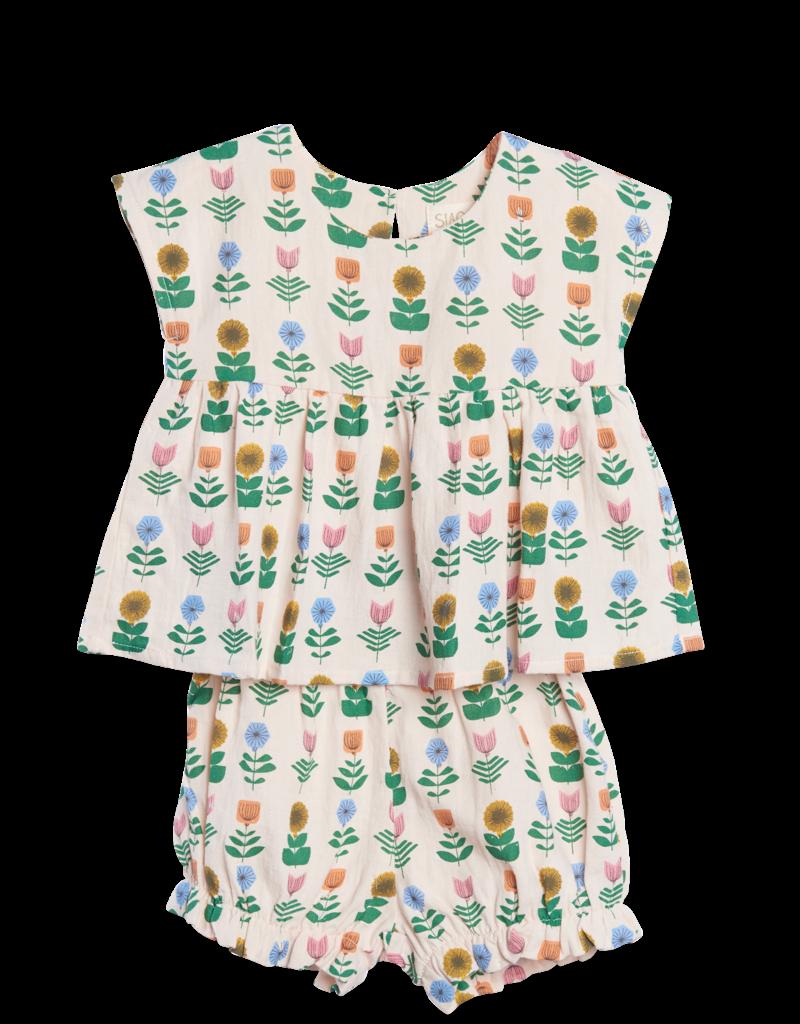 Siaomimi floral set- ecru
