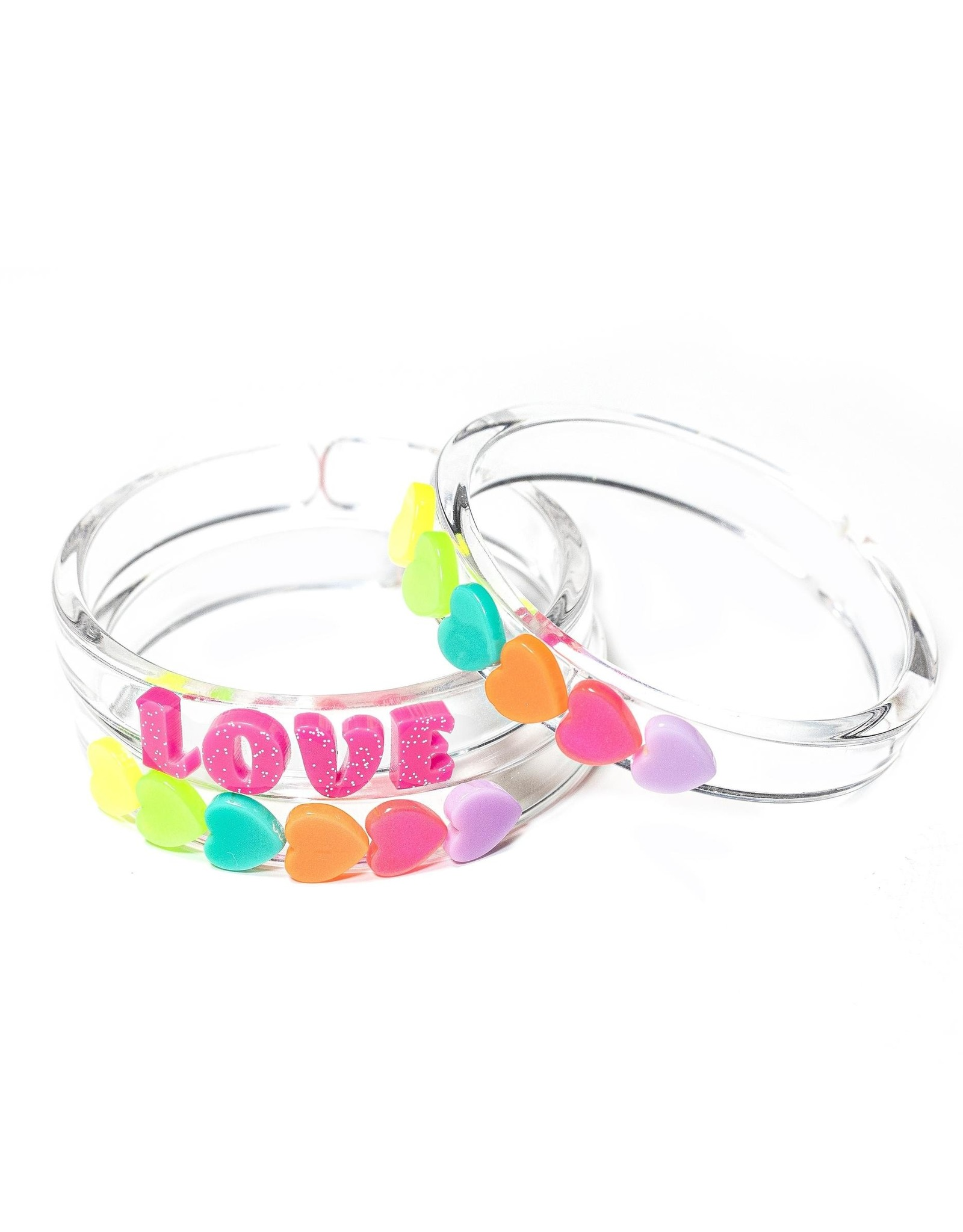 Lilies & Roses Neon Love Bangles Set