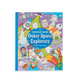 OOLY outer space color-in' book