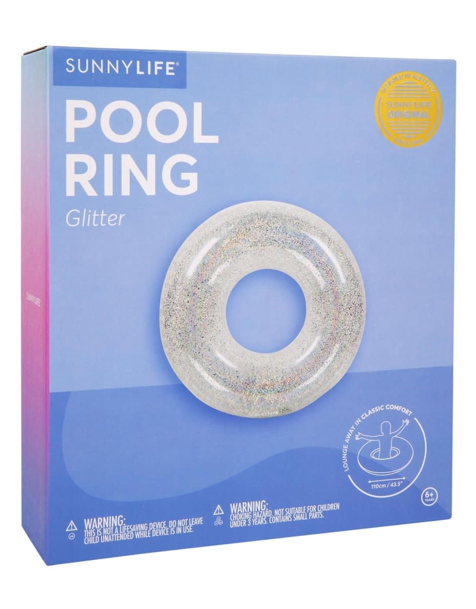 Sunnylife pool ring glitter