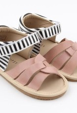 Little Bipsy Collection isla sandals- blush and black stripe