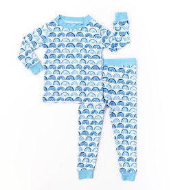 Little Sleepies blue rainbows pajamas