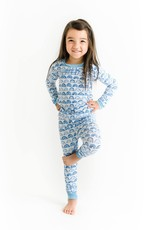 Little Sleepies blue rainbows pajamas