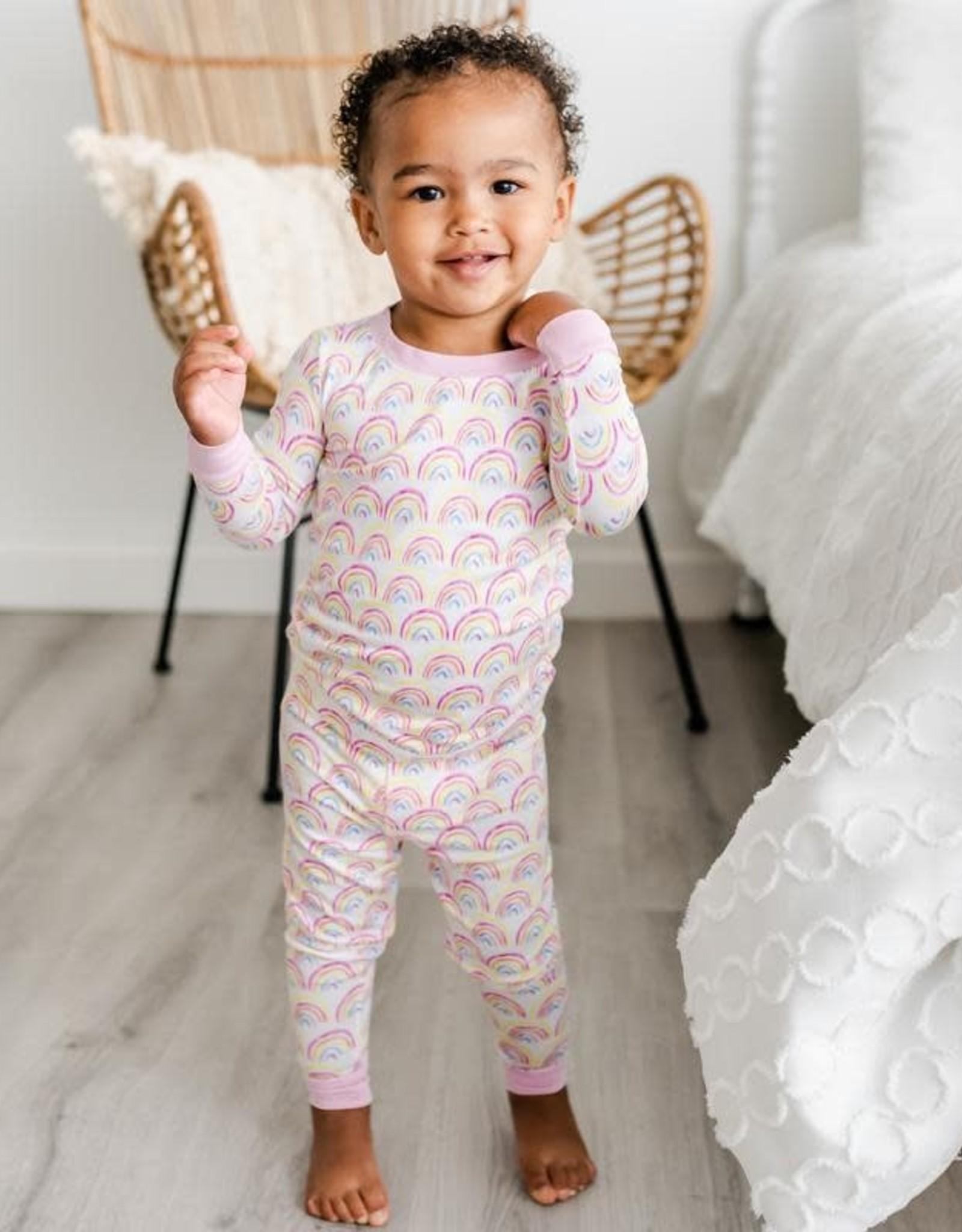Little Sleepies pastel rainbows pajamas