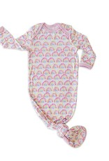 Little Sleepies knotted gown pastel rainbows