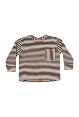 Rylee and Cru striped l/s skater tee