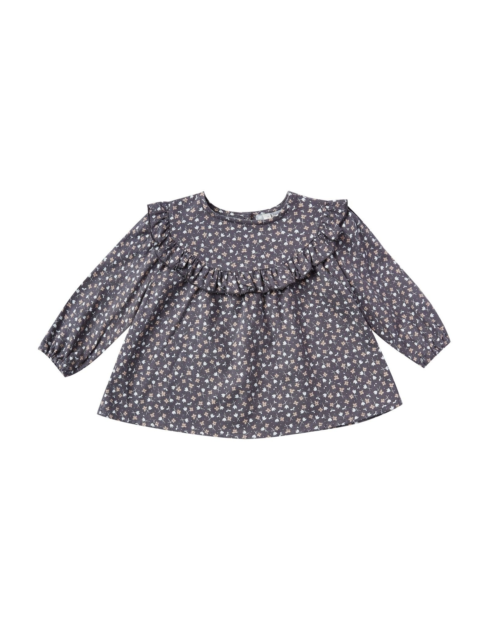 Rylee and Cru ditsy victoria blouse- indigo