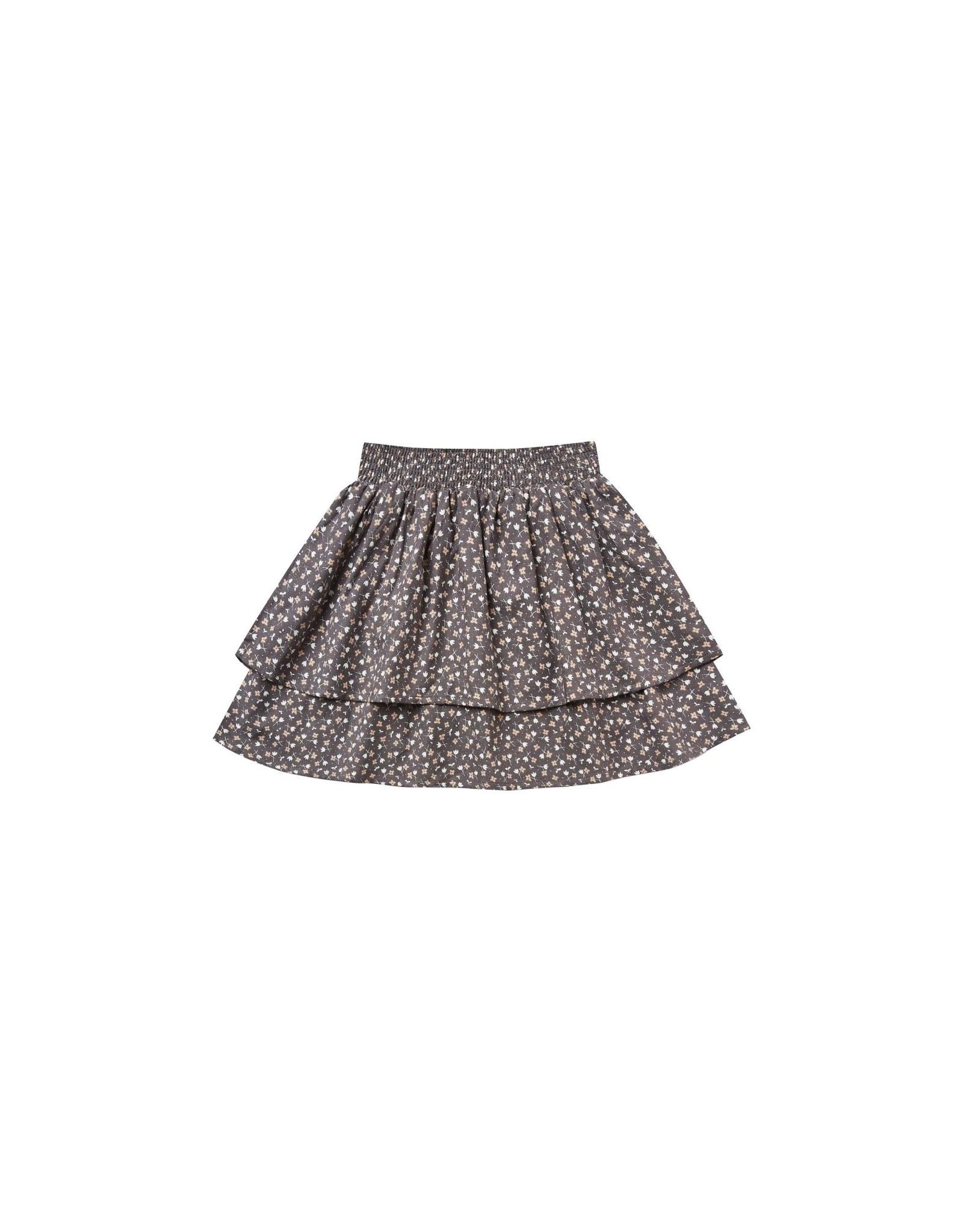 Rylee and Cru ditsy tiered mini skirt- indigo