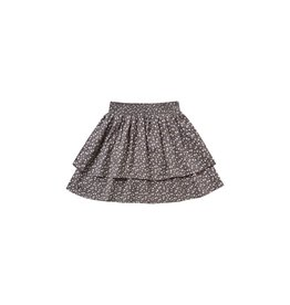 Rylee and Cru ditsy tiered mini skirt- indigo