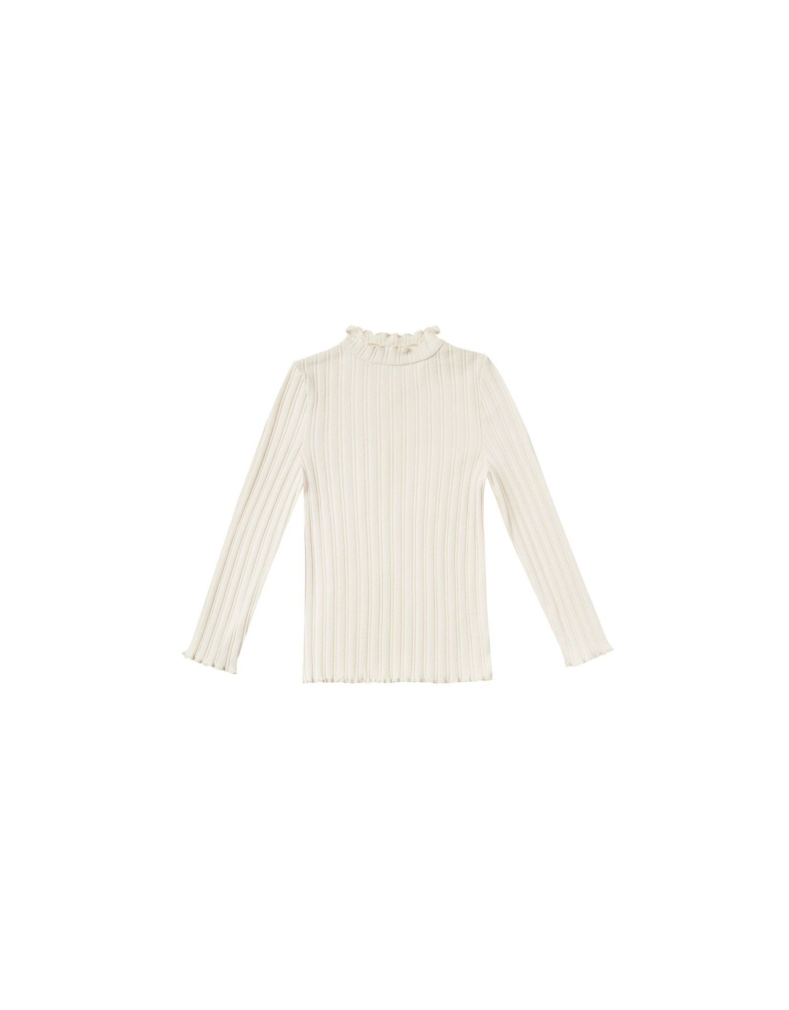 Rylee and Cru ribbed l/s tee- natural