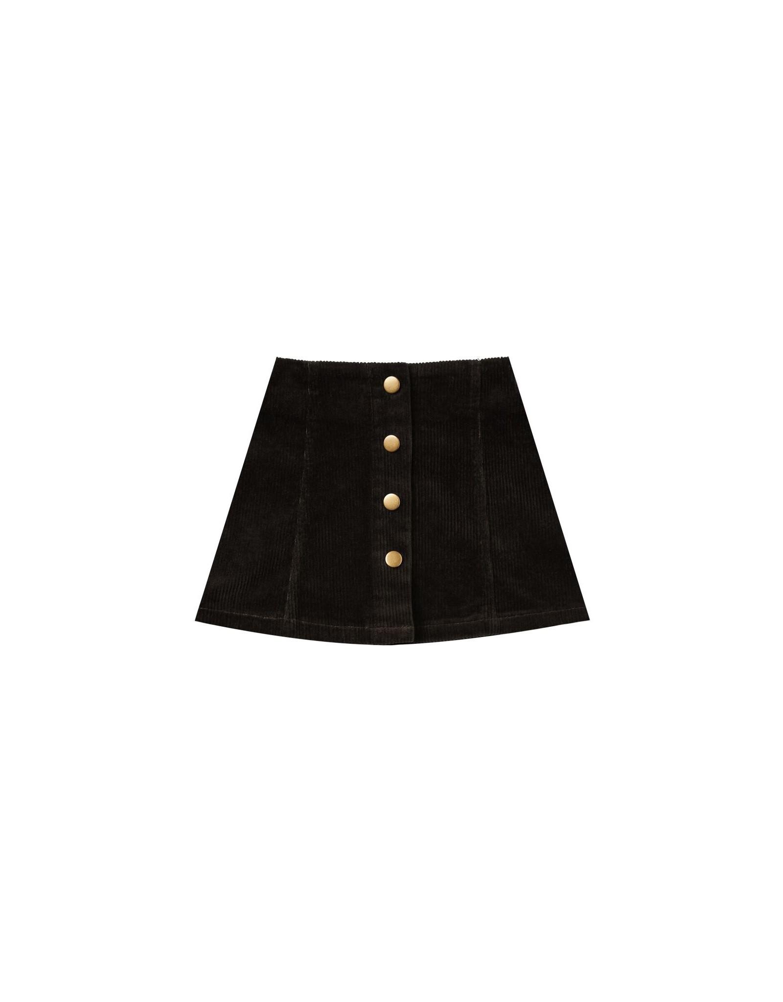 Rylee and Cru corduroy mini skirt- black