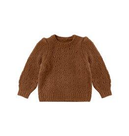 Rylee and Cru balloon sweater- cinnamon