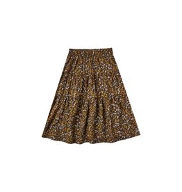 Rylee and Cru dark floral tiered midi skirt